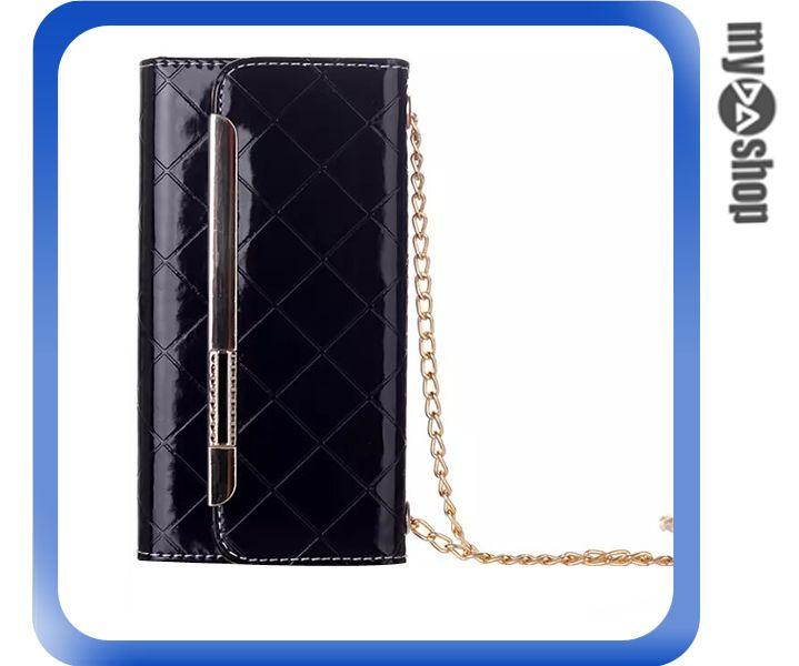 《DA量販店》Apple iphone6 4.7吋 亮面 格紋 方格 皮套 保護套 手機套 黑色(80-1211)