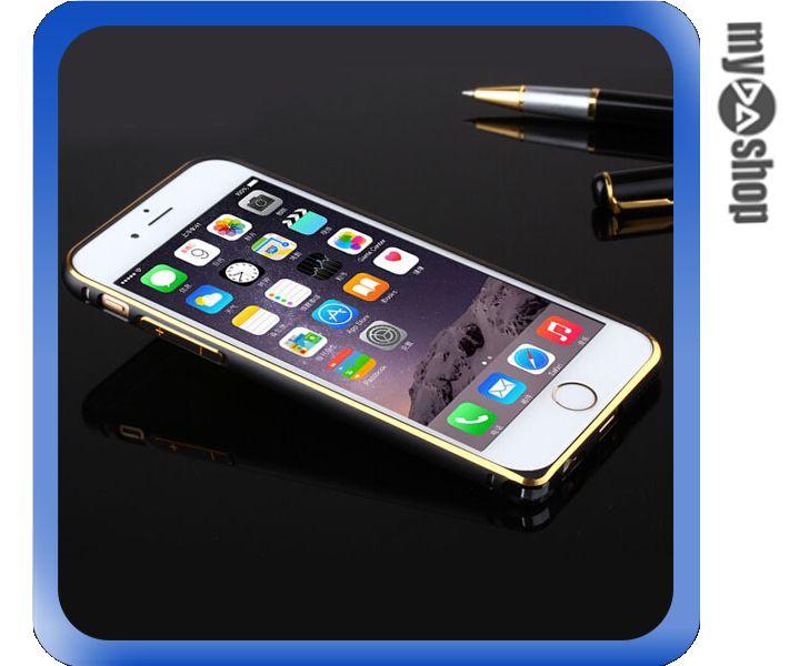 《DA量販店》APPLE 蘋果 iphone6 4.7吋 超薄 金屬 邊框 金邊 黑色(80-1241)