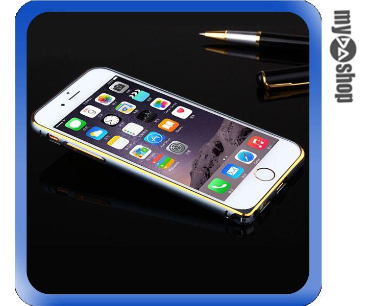 《DA量販店》APPLE 蘋果 iphone6 4.7吋 超薄 金屬 邊框 金邊 灰色(80-1242)