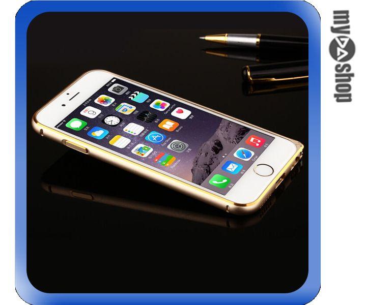 《DA量販店》APPLE 蘋果 iphone6 4.7吋 超薄 金屬 邊框 金邊 金色(80-1244)