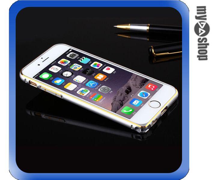 《DA量販店》APPLE 蘋果 iphone6 4.7吋 超薄 金屬 邊框 金邊 銀色(80-1245)