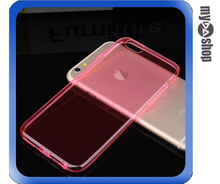 《DA量販店》APPLE 蘋果 iphone6 plus 5.5吋 超薄 TPU 手機殼 具防塵塞 粉紅色(80-1256)