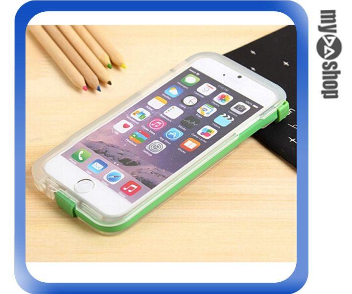 《DA量販店》iphone6 plus 5.5 來電閃 透明殼 保護殼 可拆 傳輸線 綠色(80-1344)