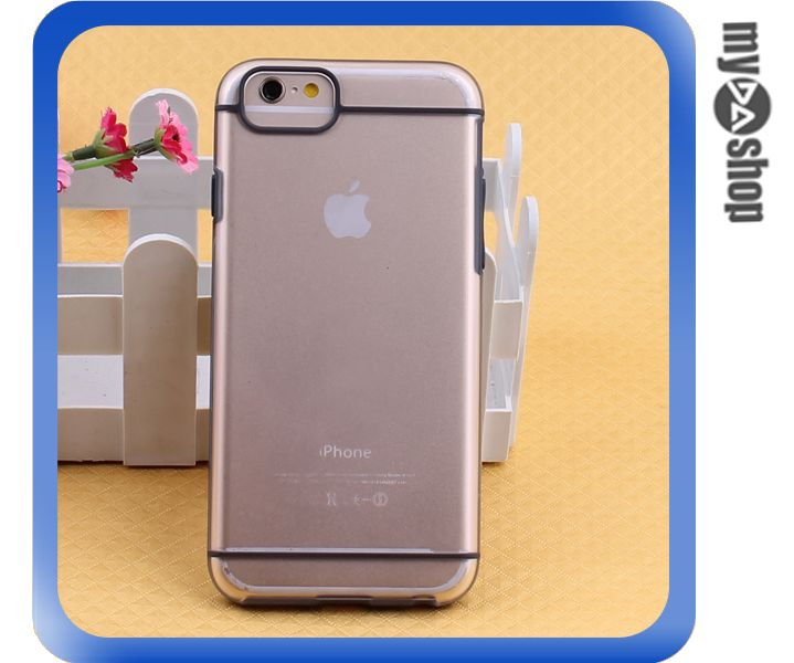 《DA量販店》蘋果 iphone6 4.7吋 PC 磨砂 霧面 硬殼 手機殼 黑色(80-1609)
