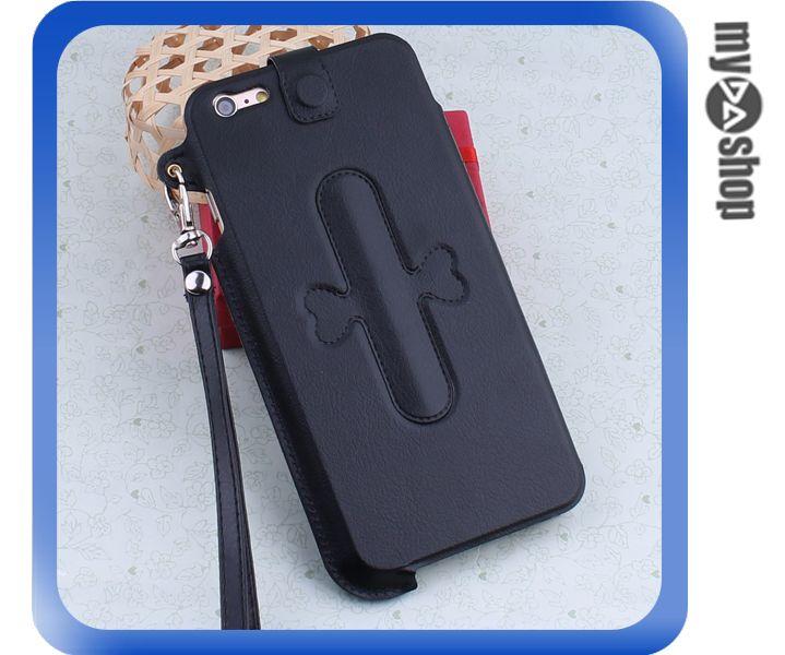 《DA量販店》iphone6 plus 手機套 皮套 U型支架 掛繩 保護套 touch-U 黑色(80-1652)
