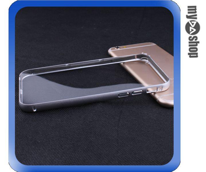 《DA量販店》iphone6 plus 5.5吋 金屬框 滑蓋式 PC 透明 背板 手機殼 銀(80-1728)