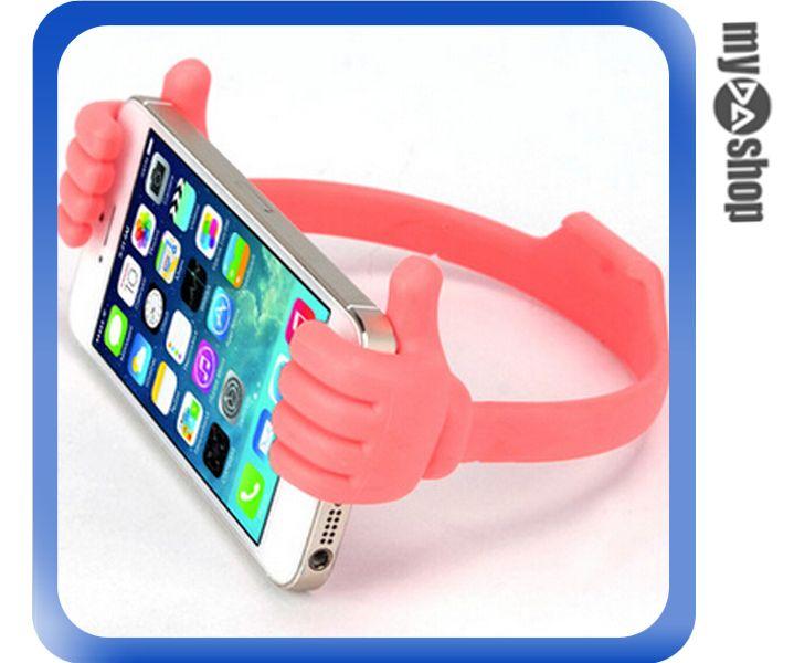 《DA量販店》大拇指 手指 手機 平板 支架 通用型 紅色(80-1768)
