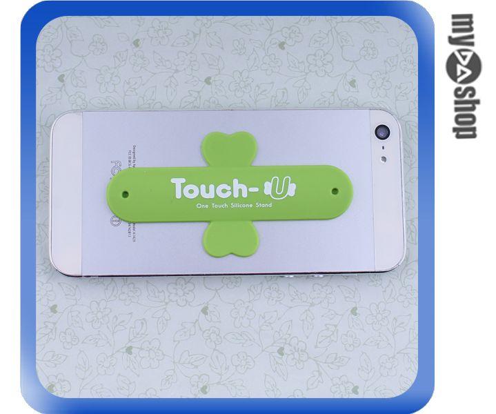 《DA量販店》TOUCH-U 矽膠 U型 懶人 彈簧 手機 支架 通用型 顏色隨機(80-1795)