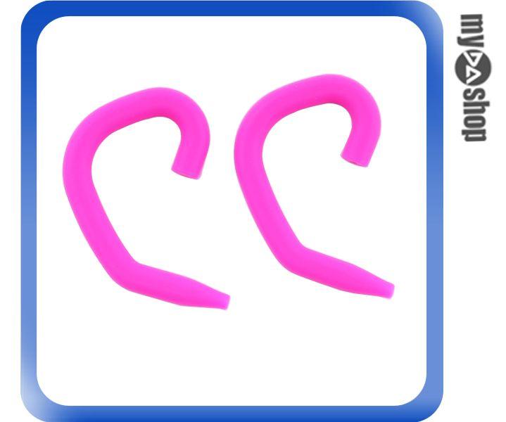 《DA量販店》運動 戶外 矽膠 耳掛式 耳機 掛勾 1組2個 桃紅色(80-2007)