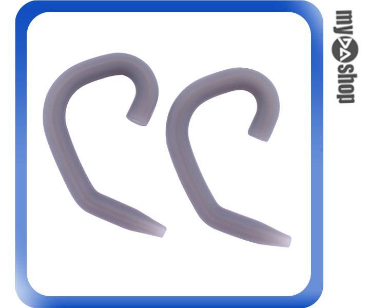 《DA量販店》運動 戶外 矽膠 耳掛式 耳機 掛勾 1組2個 淺灰色(80-2009)
