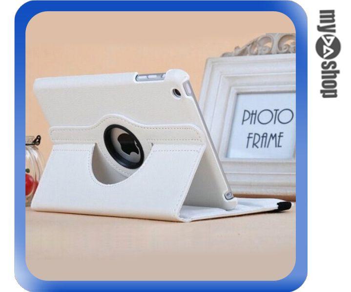 《DA量販店》Apple iPad Air2 可立 360度 旋轉 休眠 皮套 白色(80-2020)