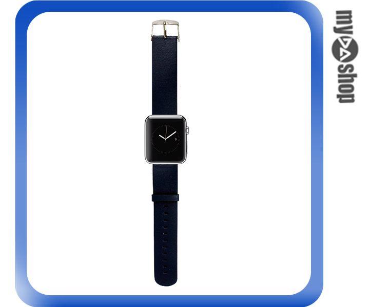《DA量販店》Apple watch 皮質 錶帶 42mm 藍色 附工具(80-2055)