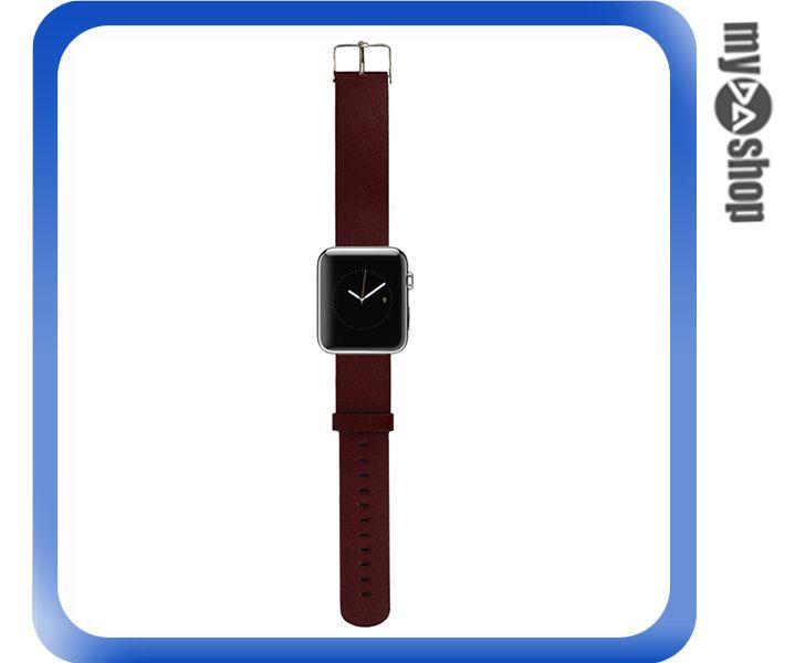 《DA量販店》Apple watch 皮質 錶帶 42mm 棕色 附工具(80-2057)