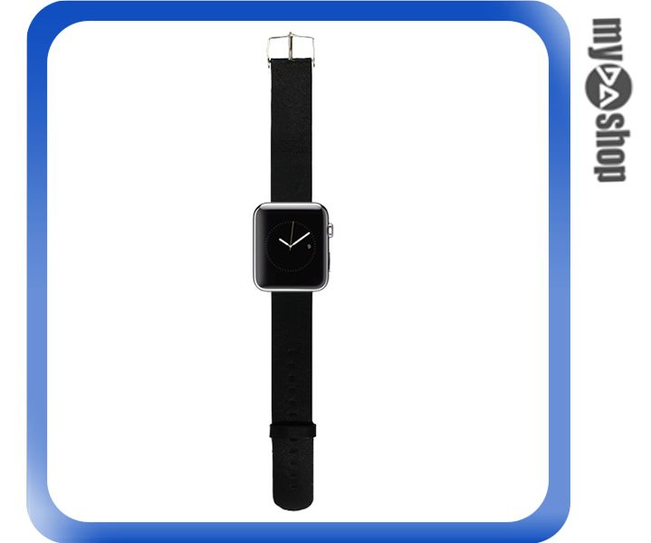 《DA量販店》Apple watch 皮質 錶帶 38mm 黑色 附工具(80-2060)