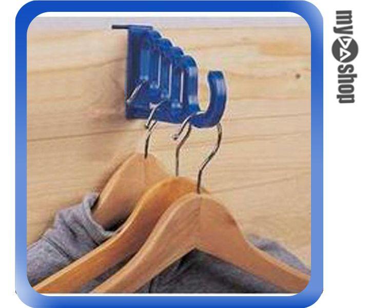 《DA量販店》門後 門背 便利 省空間 五連式 掛鉤 掛勾 衣架 顏色隨機(V50-0005)