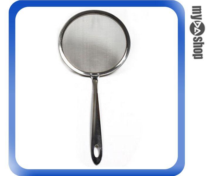 《DA量販店》廚房 火鍋 油炸 不鏽鋼 濾油勺 撈泡沫 油脂 撈勺 過濾勺 大(V50-0203)
