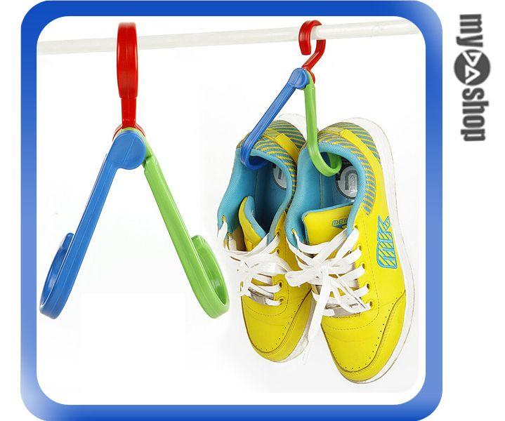 《DA量販店》多功能 折疊式 掛勾 創意 衣架勾 曬鞋子 晾衣服 鉤子 顏色隨機(V50-0208)