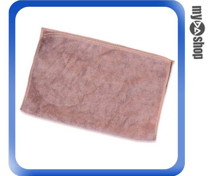 《DA量販店》汽車 加厚 吸水 毛巾 擦車巾 洗車布 寵物 30*40 咖啡色(V50-0263)