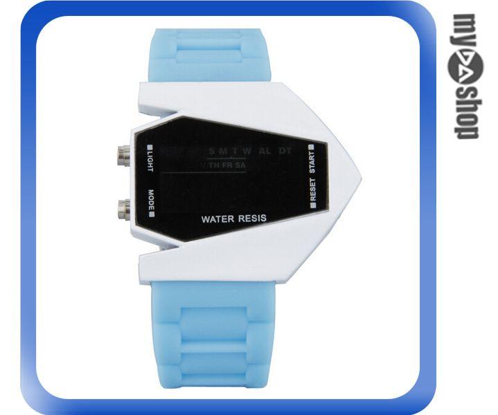 《DA量販店》兒童 LED 飛機 戰鬥機 電子錶 手錶 對錶 天藍 藍色(V50-0444)