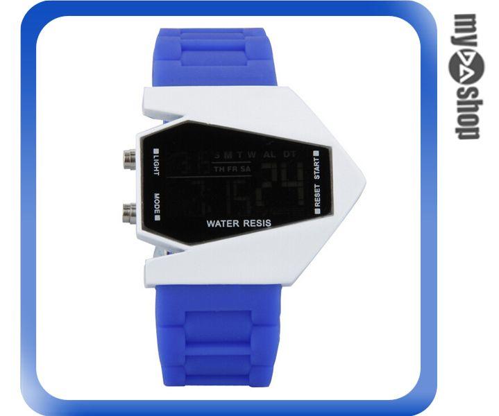 《DA量販店》兒童 LED 飛機 戰鬥機 電子錶 手錶 對錶 寶藍 藍色(V50-0445)