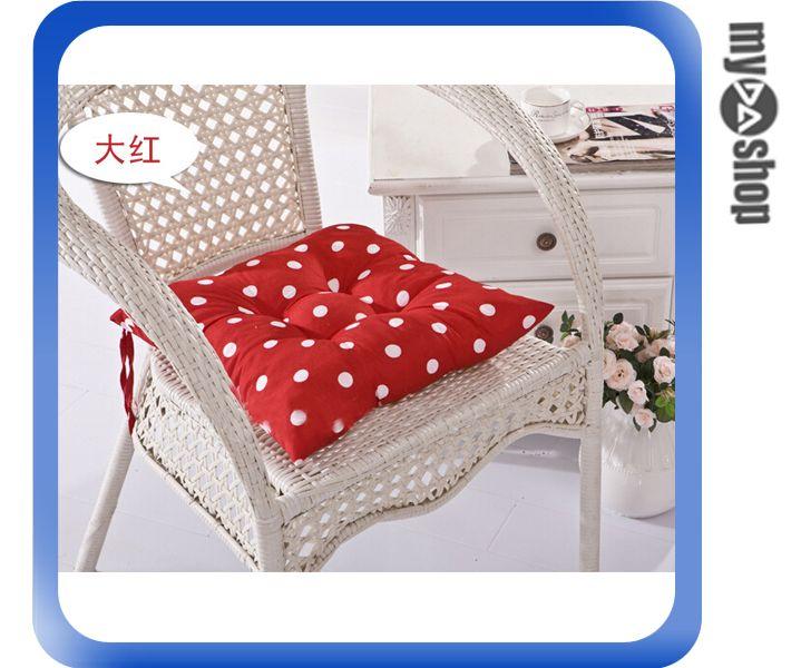 《DA量販店》普普風 圓點 波點 抱枕 靠墊 椅墊 40*40 紅色 附真空收納袋(V50-0469)