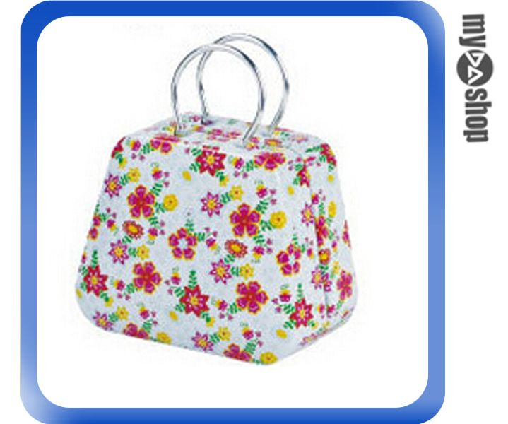 《DA量販店》婚禮小物 喜糖盒 行李箱 手提包 金屬盒 白底紅花(V50-1041)