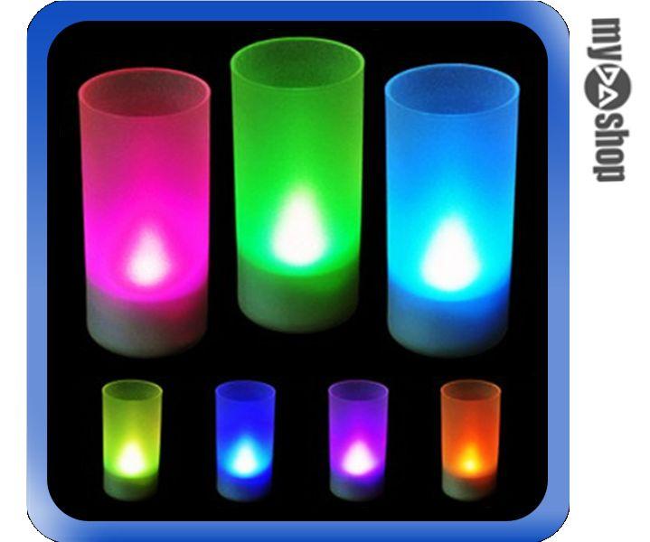《DA量販店》LED 聲控 電子 蠟燭 小夜燈 裝飾燈 求婚 活動 七彩色(V50-1048)