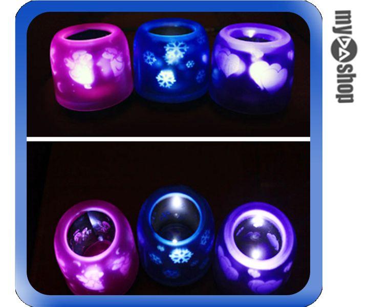 《DA量販店》LED 聲控 投影 電子 蠟燭 小夜燈 裝飾燈 求婚 活動 款式隨機(V50-1049)