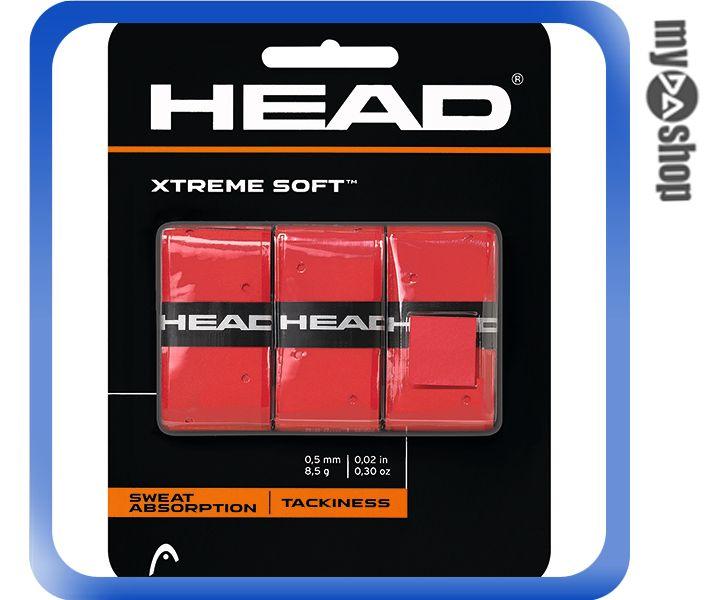 《DA量販店》HEAD XtremeSoft 網球 球拍 握把布 紅色(W92-0037)