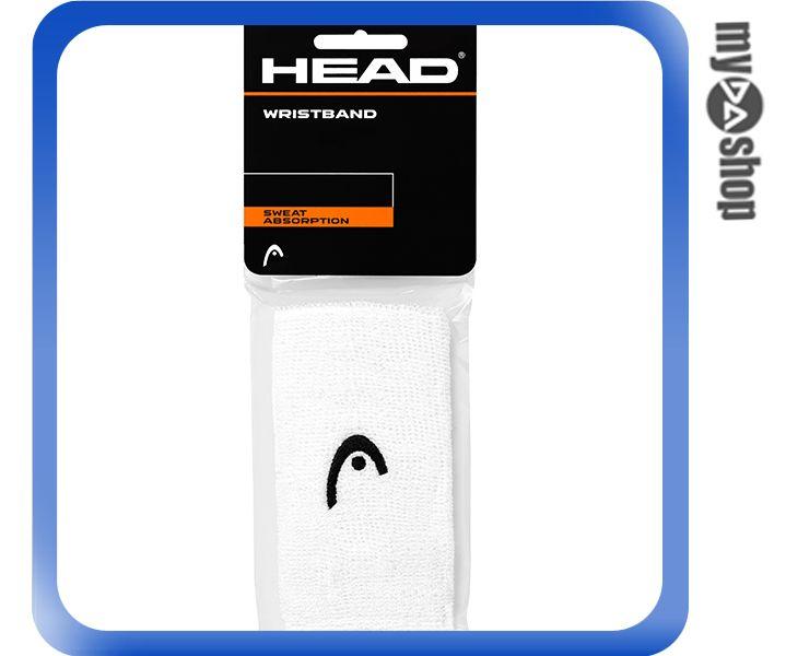 《DA量販店》HEAD 網球 5吋 運動 護腕 白色 2個(W92-0053)