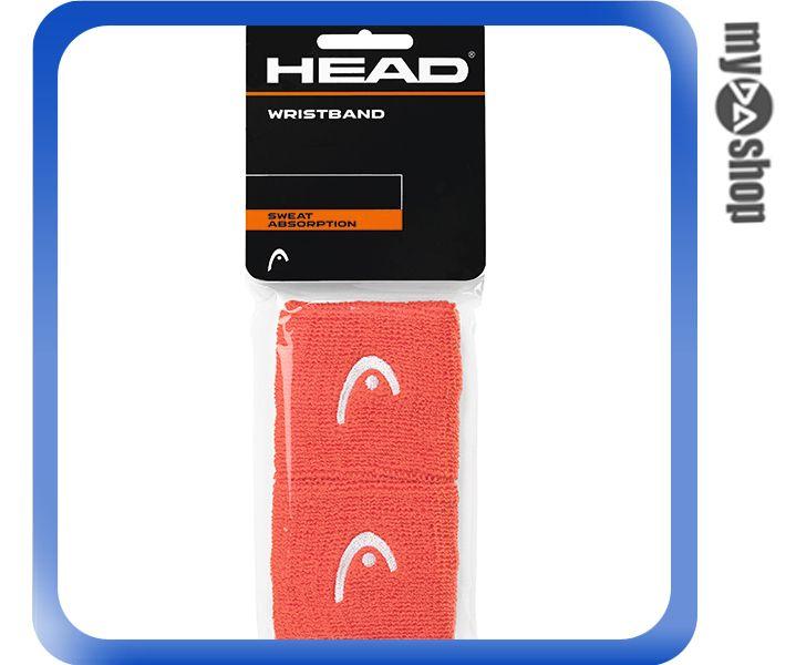 《DA量販店》HEAD 網球 2.5吋 運動 護腕 紅色 2個(W92-0055)