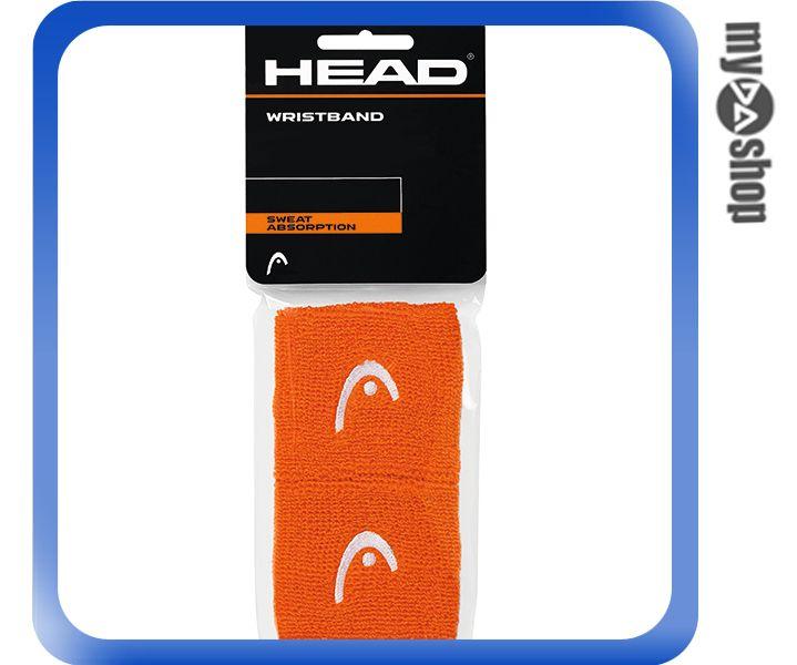 《DA量販店》HEAD 網球 2.5吋 運動 護腕 橘色 2個(W92-0058)