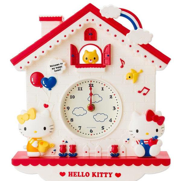日本直送 Sanrio 三麗鷗 Hello Kitty 凱蒂貓 可愛咕咕鐘造型 掛鐘