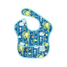 【淘氣寶寶】2016年最新 美國Bumkins防水兒童圍兜(一般無袖款6個月~2歲適用)-海洋朋友 【保證公司貨】