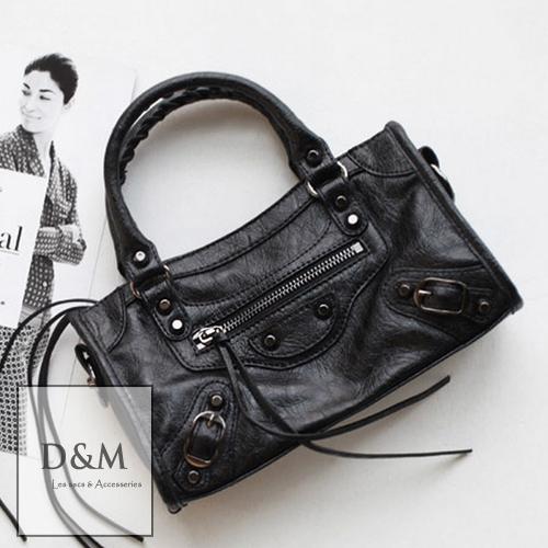 小機車包 皮革手提/側肩/斜背包早春巴黎世家經典mini方包小包 D&M Shop【B11099】