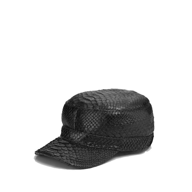 蟒蛇皮 軍帽