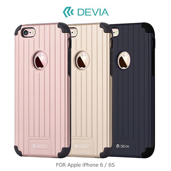 強尼拍賣~ DEVIA Apple iPhone 6S/6S Plus 旅行箱二合一保護殼 四角防震 PC+TPU 背殼