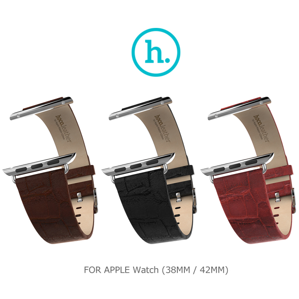 強尼拍賣~ HOCO Apple Watch (38mm / 42mm) 優尚皮錶帶 - 竹節款