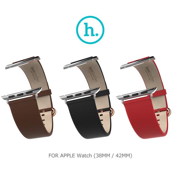 強尼拍賣~ HOCO Apple Watch (38mm / 42mm) 優尚皮錶帶 - 經典款