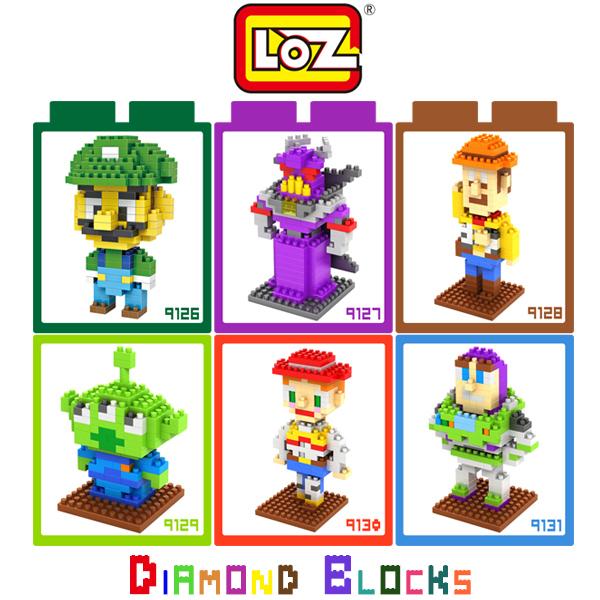 強尼拍賣~LOZ 鑽石積木 9126 - 9131 卡通系列 胡迪警長 巴斯光年 三眼仔 翠絲 路易吉 益智玩具 正版