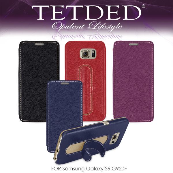 強尼拍賣~ TETDED 法國精品 Samsung Galaxy S6 G920F Dijon II 側翻可站立皮套