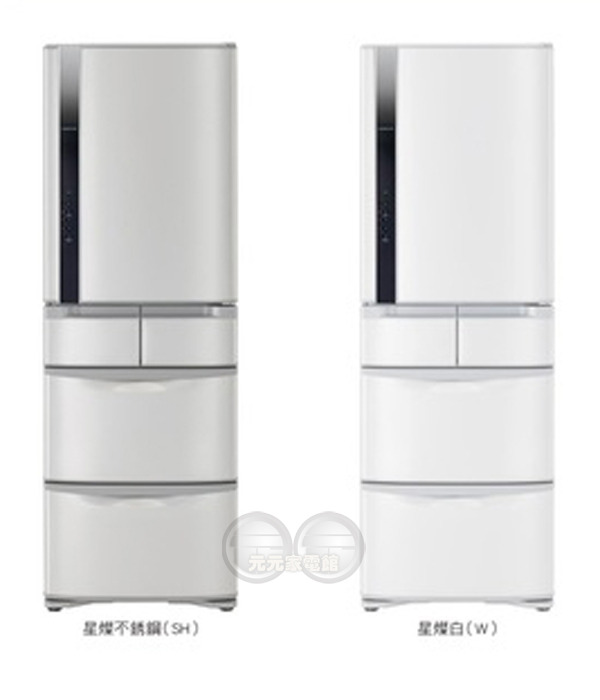 【HITACHI日立】420公升變頻五門冰箱左開RS42FJL~限區含配送安裝