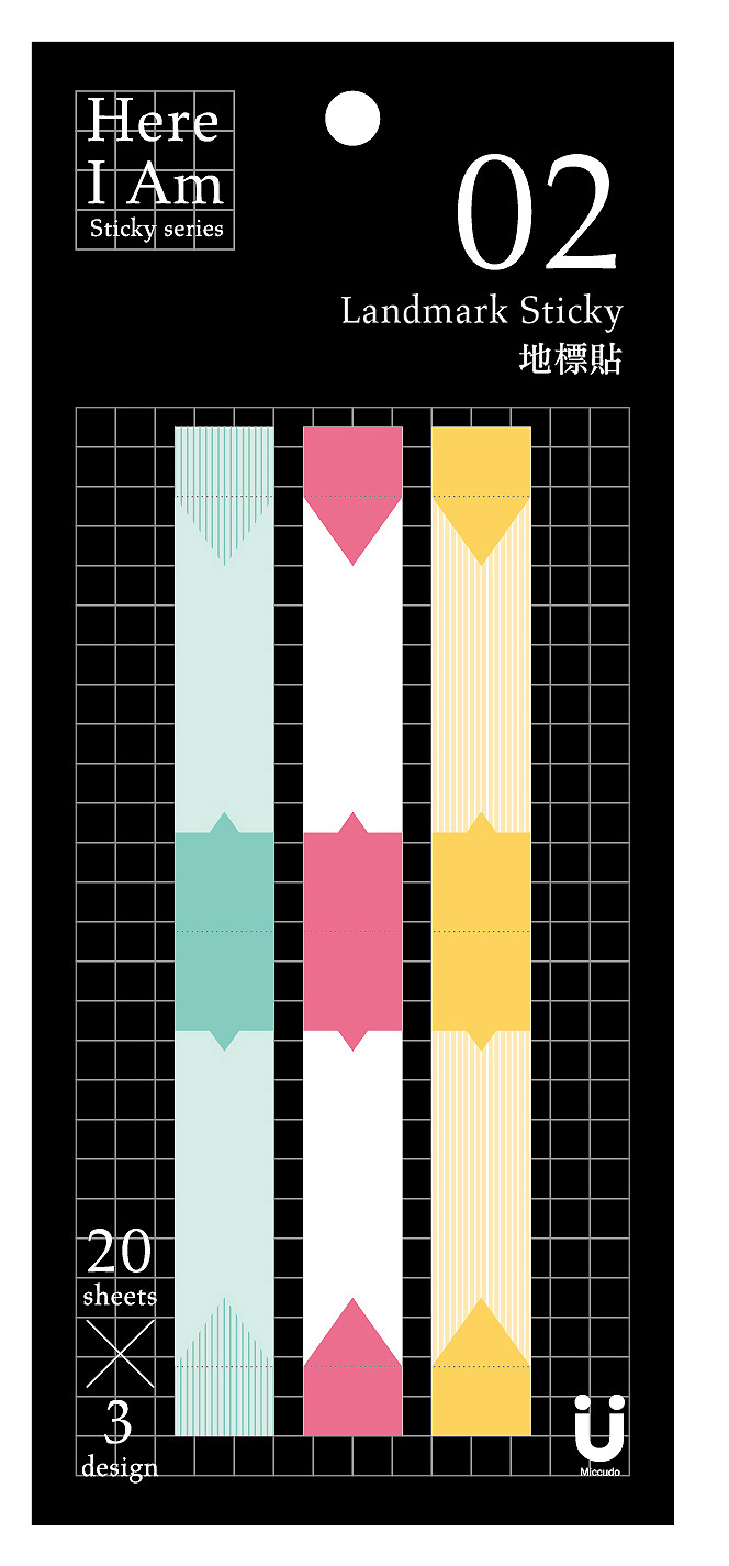 【Miccudo】地標 旅行 遊覽記錄 標識 索引貼 便利貼 ★旅遊書必備 (60張 /包)