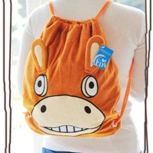 美麗大街【103100826】Q版小驢造型玩偶公仔造型後背包