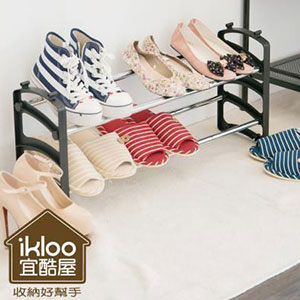 Loxin【BG0555】ikloo~伸縮可調式鞋架組一入組合鞋架 鞋櫃 鞋子收納 玄關 外宿
