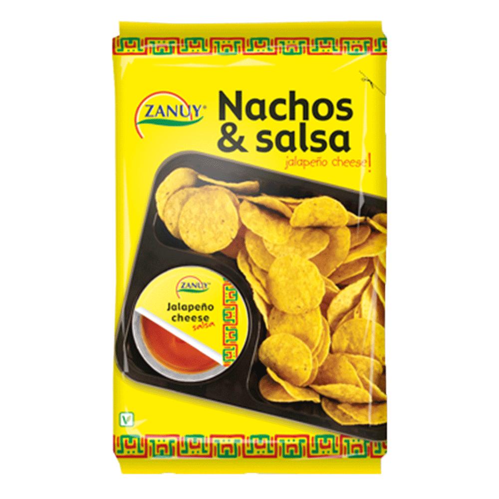 西班牙進口 ZANUY-巧達起士沾醬玉米脆片組合180g