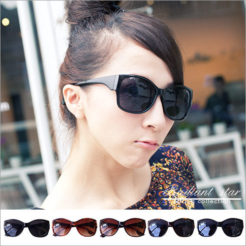 小貓眼拼接鏡腳墨鏡/太陽眼鏡【U3384】☆璀璨之星