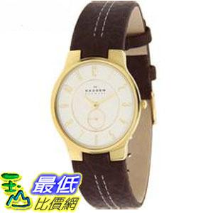 [COSCO代購 如果沒搶到鄭重道歉] Skagen 皮革石英男錶 _W785290