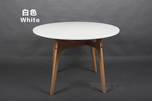 《Chair Empire》100CM EAMES餐桌DSW伊姆斯餐桌休閒圓桌時尚圓桌 復刻版 大圓桌 白/黑