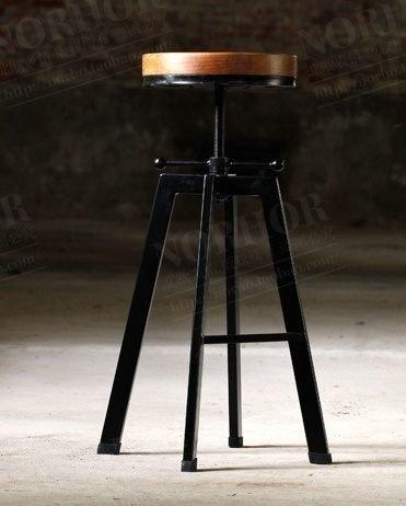 《Chair Empire》「特價」loft北歐複古工業設計鐵藝餐椅吧台 酒吧椅複古升降 吧台椅 高腳凳